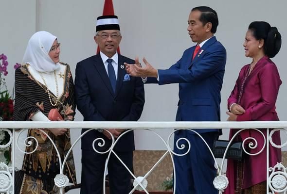 Yang di-Pertuan Agong tiba di Yogyakarta
