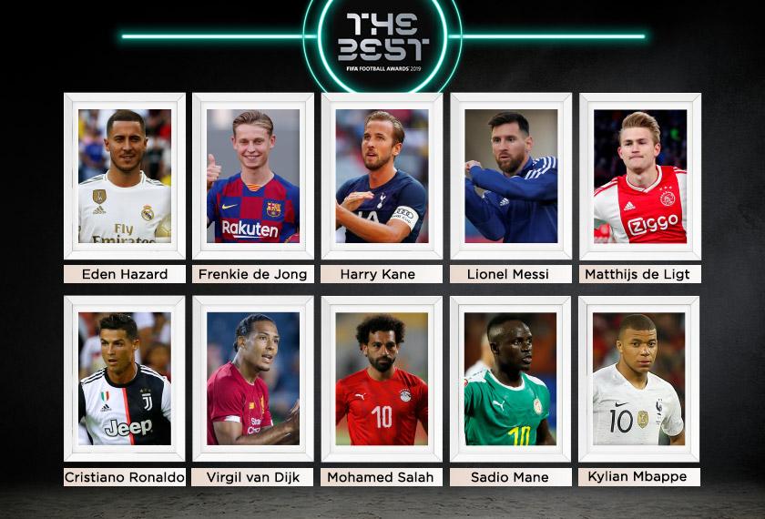 Ini dia senarai sepuluh calon untuk merebut anugerah pemain terbaik dunia FIFA 2019.