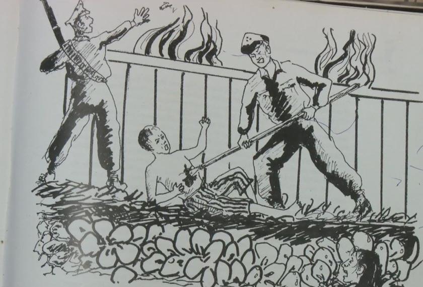 Gambaran kejadian sebagaimana diceritakan oleh Tik. -Gambar oleh Datuk Jamil Sulong