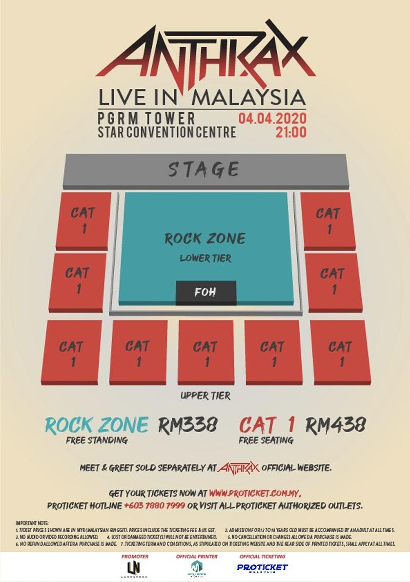 Susun letak penonton dan harga tiket konsert.