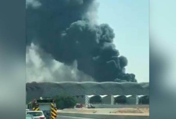 Stesen kereta api laju Haramain di Jeddah terbakar