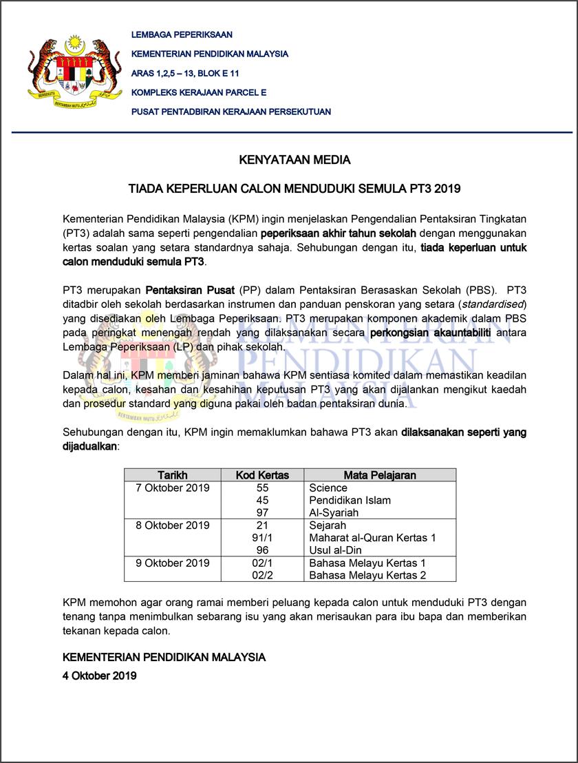 Tiada Keperluan Duduki Semula Pt3 Kpm Astro Awani