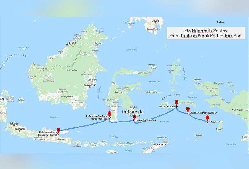 Pasukan Ceritalah menaiki kapal Nggapulu dari Surabaya ke pulau Tual. - Pasukan Ceritalah
