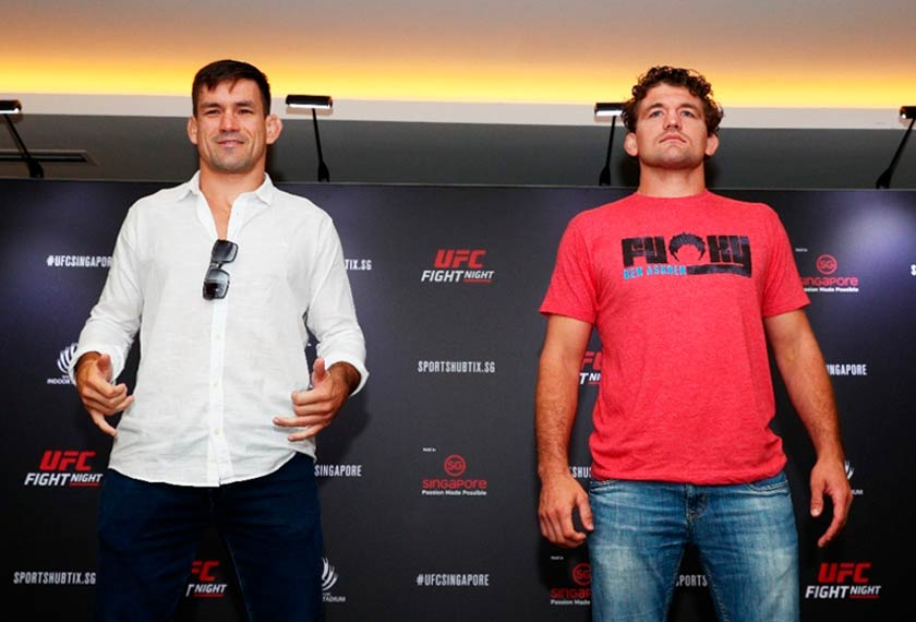 Demian Maia (left) looks to defeat Ben Askren through submission. - UFC photo