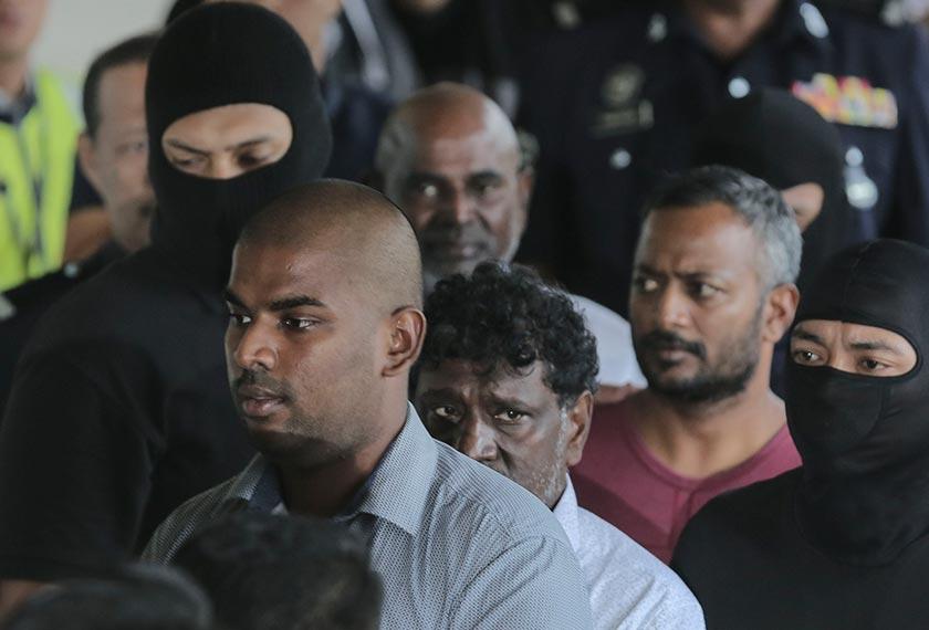 Sebahagian daripada 12 suspek yang didakwa di Mahkamah Sesyen Kuala Lumpur hari ini berkaitan kumpulan pengganas LTTE. Astro AWANI/SHAHIR OMAR