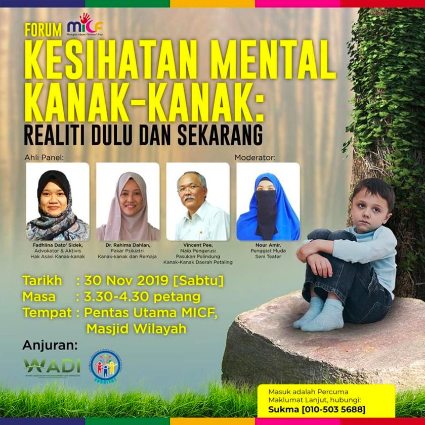 Forum menangani isu kemurungan di awal pertumbuhan. - Facebook Masjid Wilayah Pesekutuan Kuala Lumpur