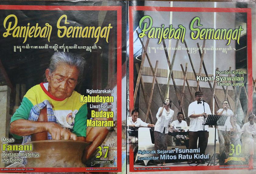 Majalah Panjebar Semangat yang diterbitkan di Surabaya adalah majalah berbahasa Jawa tertua di Indonesia. Foto Pasukan Ceritalah