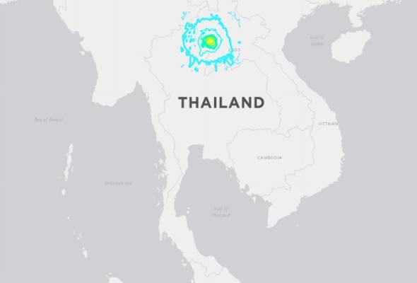 Gempa 6.1 magnitud gegar Thailand - USGS