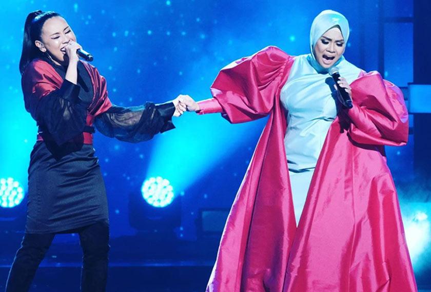 Persembahan Nur Fatima dan Liza Hanim menerusi lagu Anggapanmu disifatkan persembahan terbaik dalam Gegar Vaganza musim ini. - Gambar Instagram nurfatima_music