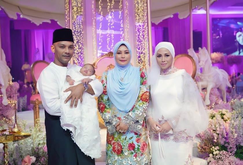 Sultanah Nur Zahirah turut berangkat ke majlis cukur jambul Areesya Malaykha. - Gambar koleksi peribadi AZRINAZ MAZHAR HAKIM