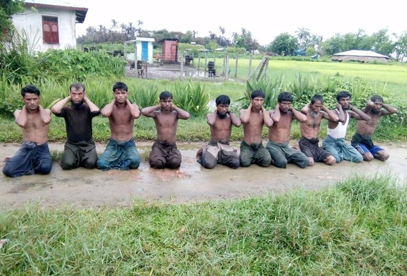 Sepuluh lelaki Rohingya beragama Islam yang dibunuh di Kampung Inn Dinn, Myanmar, pada September 2017. Foto REUTERS