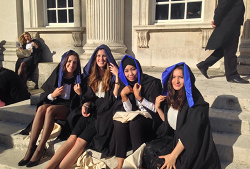 My college friends and I outside the Senate house after exiting the Senate House