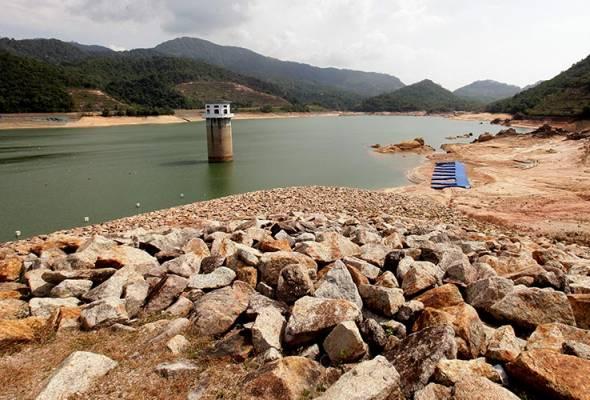 Paras air dua empangan di Pulau Pinang kritikal