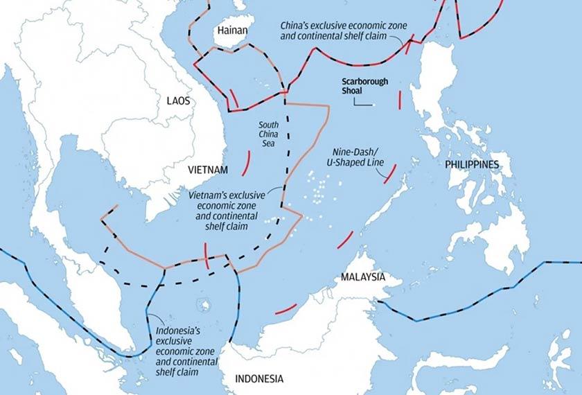Laut China Selatan dan Sembilan Garis Putus-putus (Nine-Dash Line). Foto Centre for Strategic and International Studies/Ceritalah