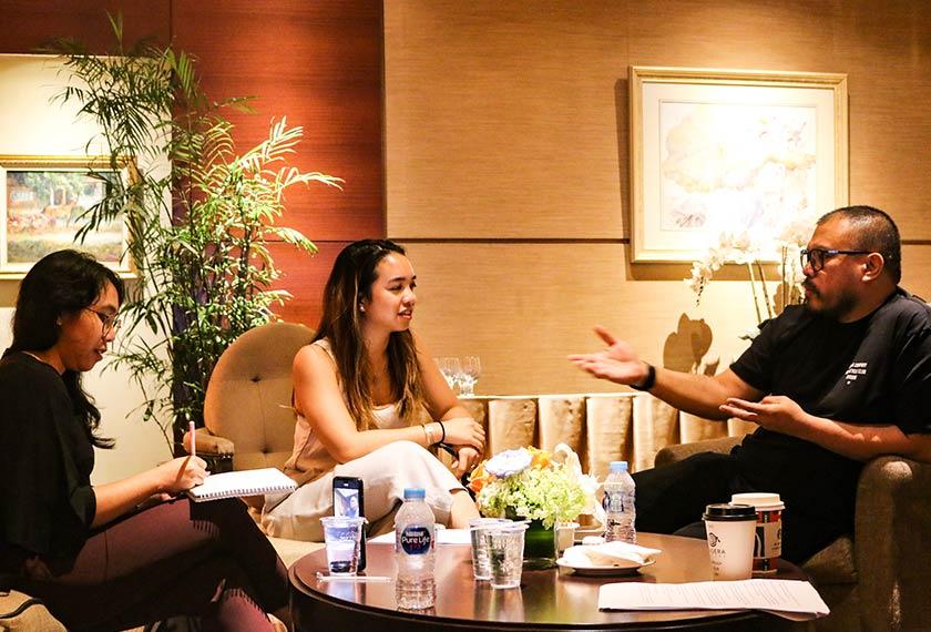 Pasukan Ceritalah mewawancara Joko Anwar di Jakarta. Foto Pasukan Ceritalah