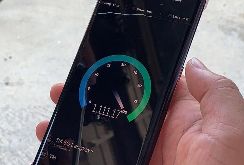Berdasarkan demonstrasi yang dilakukan TM di Langkawi, kelajuan 5G yang boleh dicapai mencecah 1.5GB sesaat - Foto Astro AWANI / Hilal Azmi