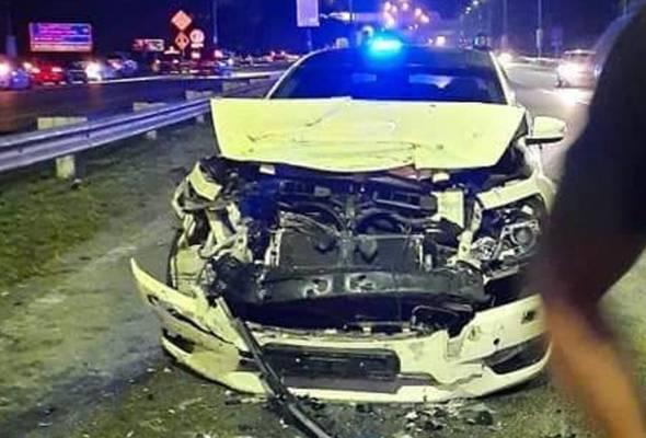 Pemandu mabuk rempuh kereta polis