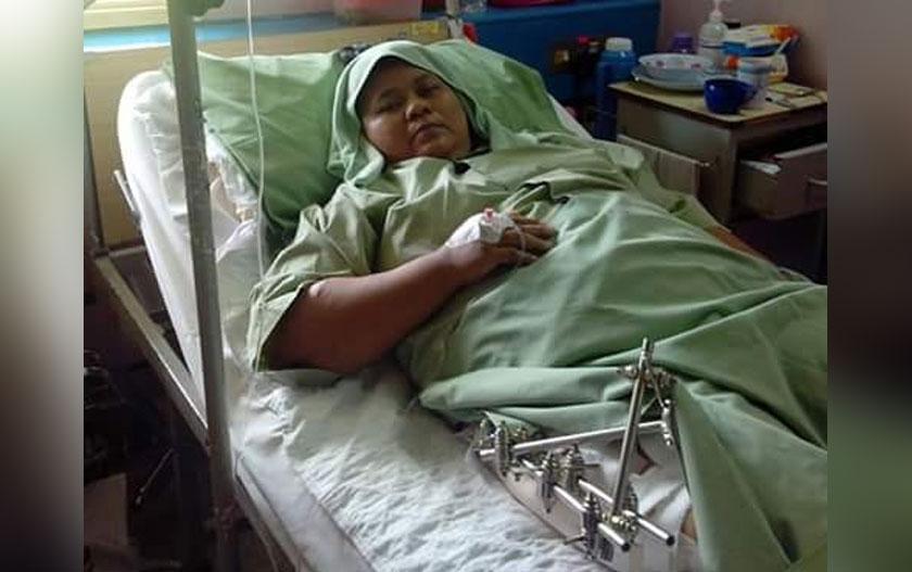 Proses untuk sembuh dicabar berkali-kali apabila berlakunya jangkitan kuman pada kakinya dan arteri putus dan menyebabkan Zaidah perlu melalui proses pembedahan sebanyak 13 kali sepanjang 6 tahun.