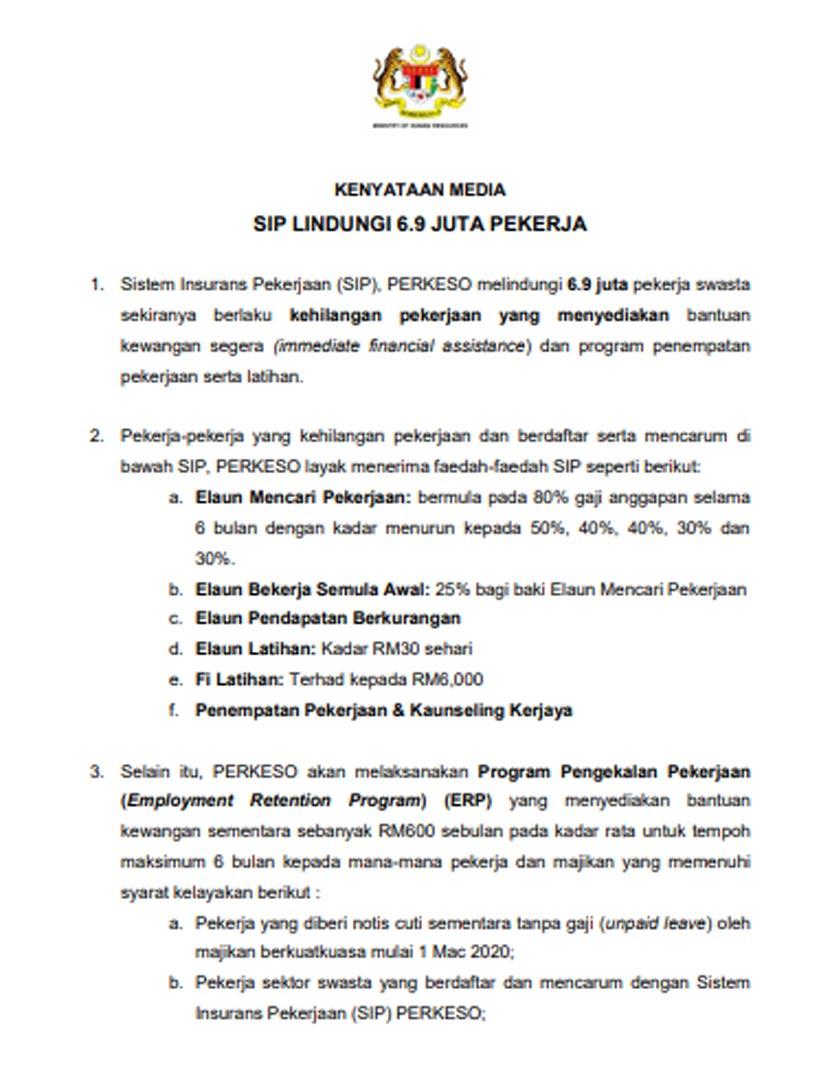 Pekerja Swasta Cuti Tanpa Gaji Terima Rm600 6 9 Juta Dilindungi Saravanan Astro Awani
