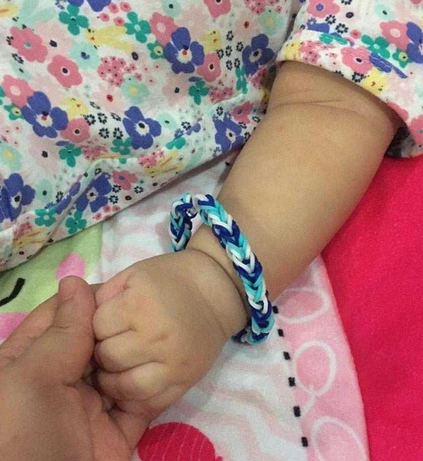 Dr Noor Hisham said her grand daughter likes the bracelet.