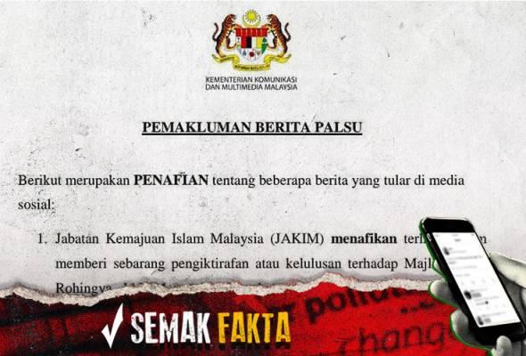 Semak Fakta: Jakim nafi beri pengiktirafan Majlis Ulama Rohingya