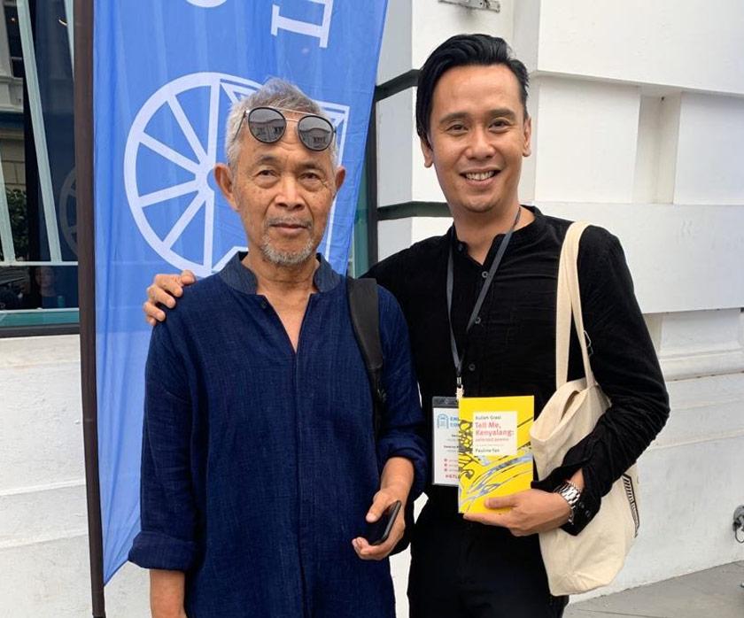 Kulleh bersama sasterawan Indonesia, Goenawan Mohammed