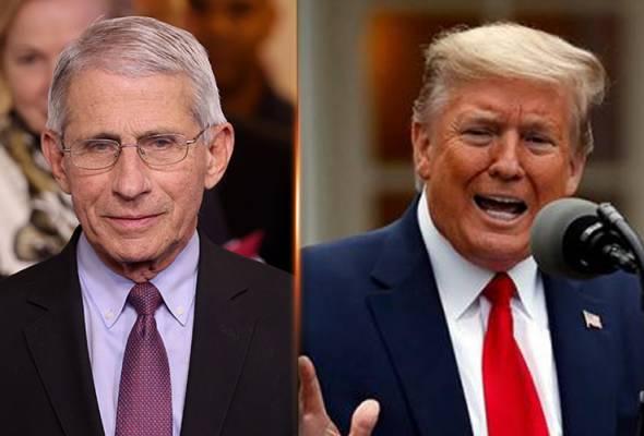 COVID-19: 'Tidak boleh diterima!' - Trump selar Fauci berhubung risiko pembukaan semula ekonomi