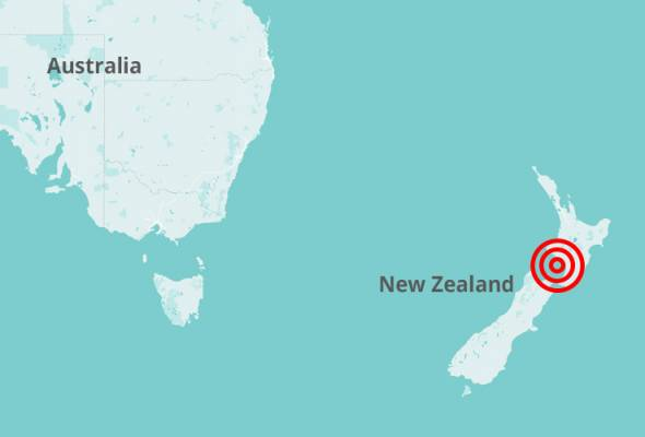 Gempa 5.9 magnitud gegar New Zealand