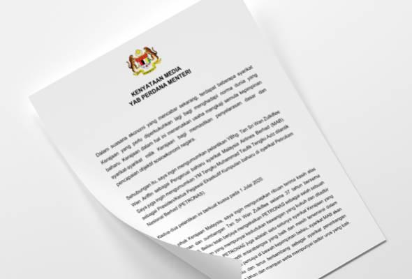 Sah! Wan Zul tinggalkan Petronas