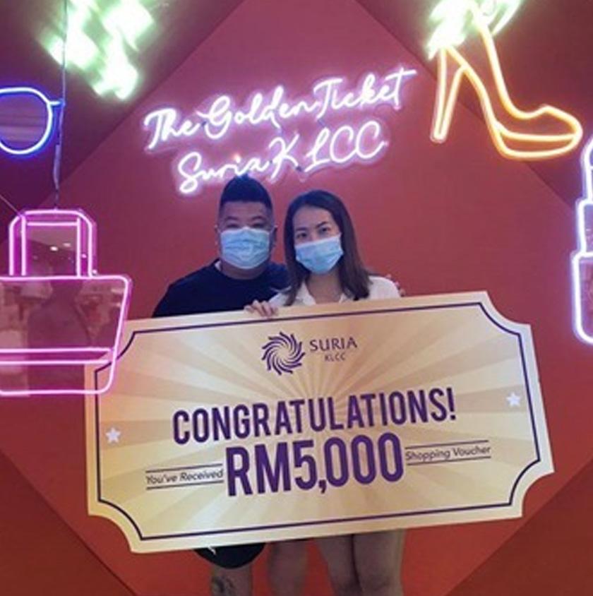 Semua orang adalah pemenang apabila berbelanja di Suria KLCC.