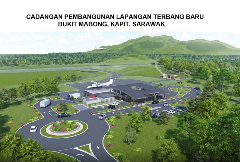 Gambaran grafik Lapangan Terbang Bukit Mabong