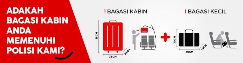 Jika dahulu, para penumpang boleh meletakkan bagasi di ruang bagasi kabin, namun kini tidak lagi, hanya di bawah kerusi hadapan.