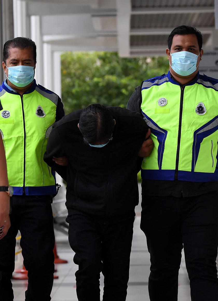 Dia dituduh membunuh Maizatulnisa Othman, 40, di Tasik Cyber Valley Park, Jalan Persiaran Sepang, Cyberjaya, antara 11 pagi, 29 Julai dan 1.04 pagi, 30 Julai lepas. - Foto BERNAMA