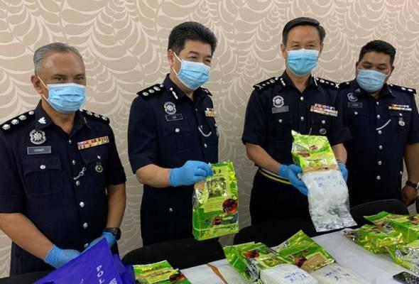 Polis Perak rampas 16.4 kilogram dadah dalam bungkusan teh Cina