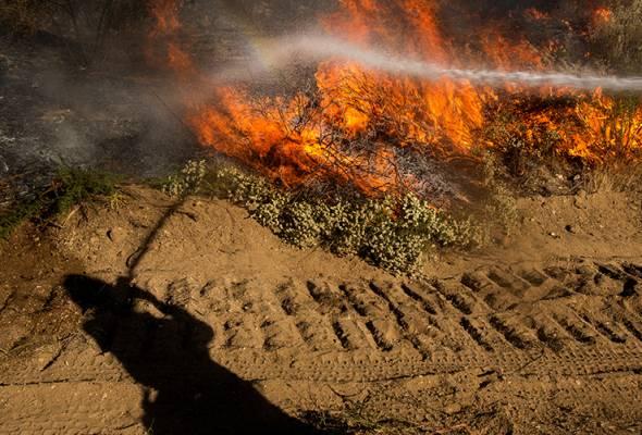 Kebakaran hutan memuncak di Los Angeles, ribuan diarah berpindah