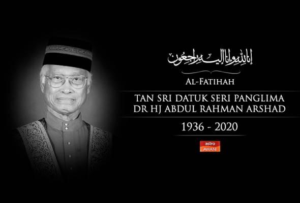 Tokoh pendidikan, Tan Sri Abdul Rahman Arshad meninggal dunia