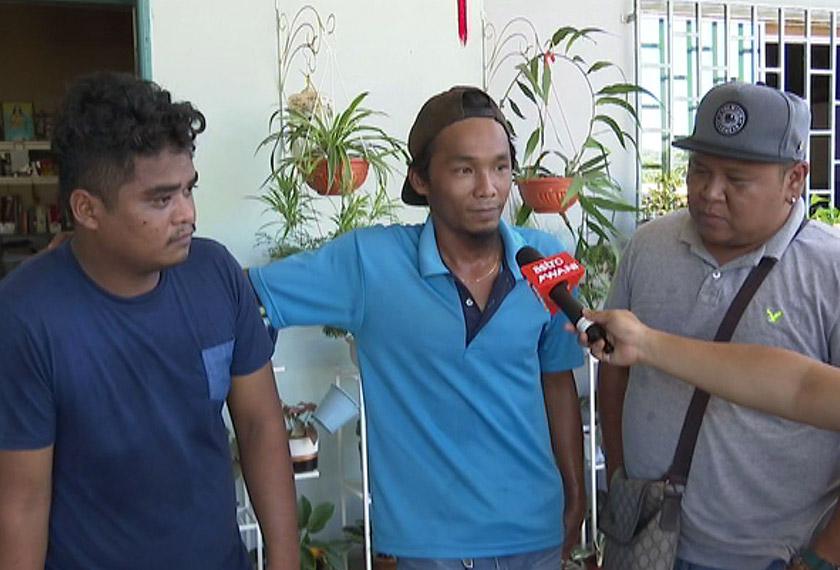 Alif Hamzah (tengah) berkata peluang pekerjaan perlu diperbanyakan di negeri Sabah