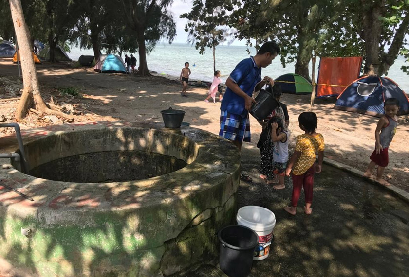 Perigi menjadi 'penyelamat' kepada bekalan air di Pulau Besar