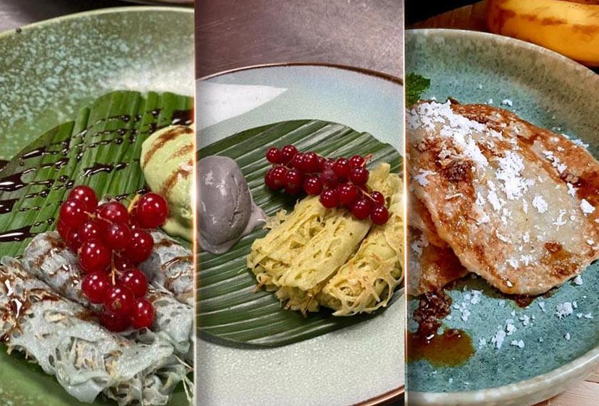 Jala Emas, Lempeng Pisang Kelapa, Roti Jala, Ice-cream - MOMCpics