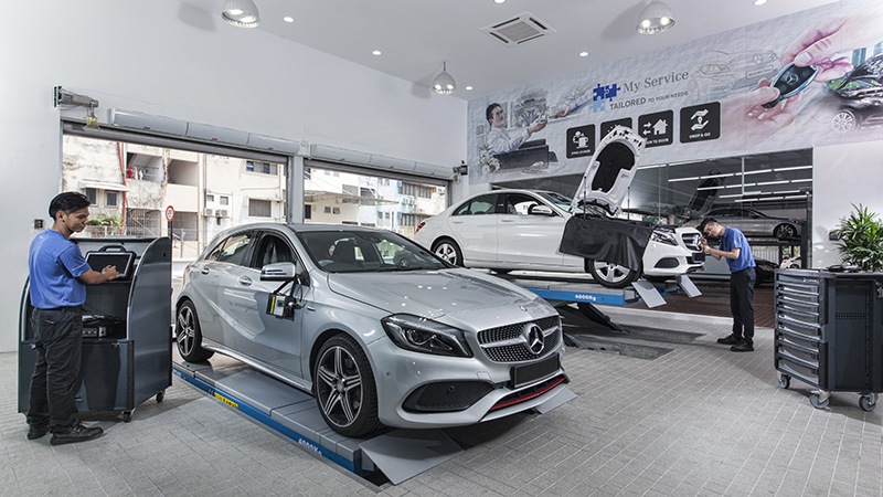 The autohaus in the city centre astro awani for Service b for mercedes benz