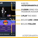 This is how you can vote for our host Harith in the finals of Laugh Factory's Funniest Person In The World Competition. Let's make Malaysia proud together! Voting ends 1pm on December 10th. #MalaysiaBoleh #fpitw