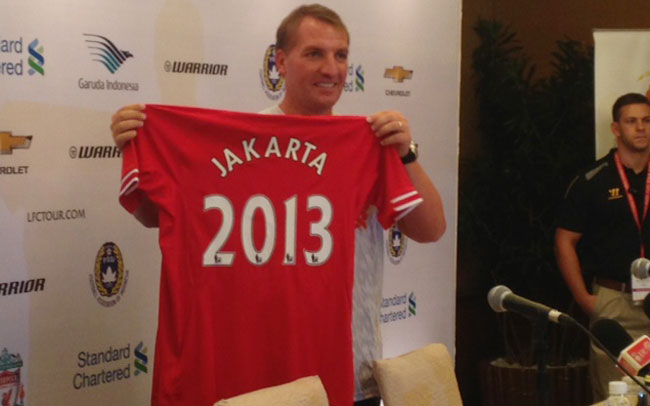 """Brendan Rodgers Shirt - """"Indonesia is the biggest LFC fan base in the world"""""""