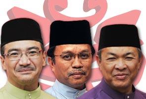 Zahid, Shafie and Hishamuddin maintain positions