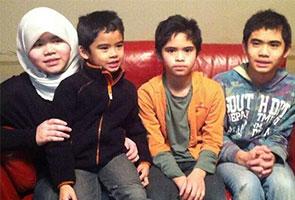 Empat anak pasangan Malaysia di Sweden berlepas pulang ke Malaysia