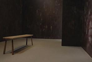 Artist creates edible chocolate room