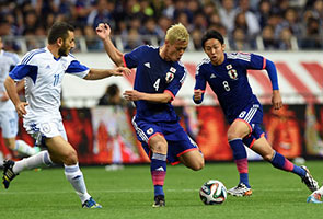 World Cup: Japan toil to beat Cyprus in warm-up game