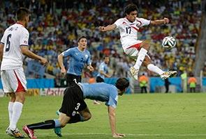 Uruguay stunned by Costa Rica