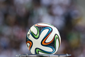 WORLD CUP: Pakistan workers fire 'Brazuca' ball to Brazil