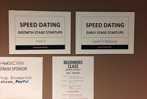 Investor-Startup Speed Dating were categorised for Early Stage Startups and Growth Stage Startups.