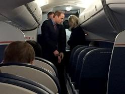 Penumpang terkejut kemunculan Putera William dalam pesawat komersial